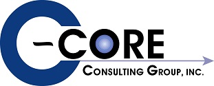 C-CORE Inc Logo with darkened bullseye